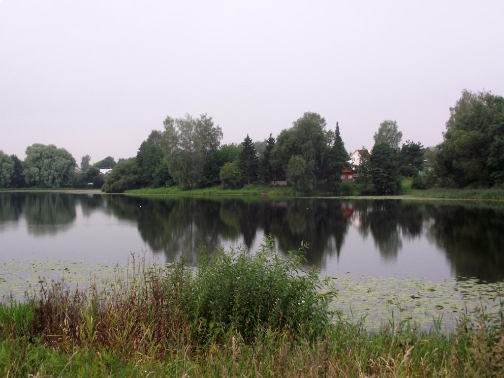 схема впадения реки в озеро