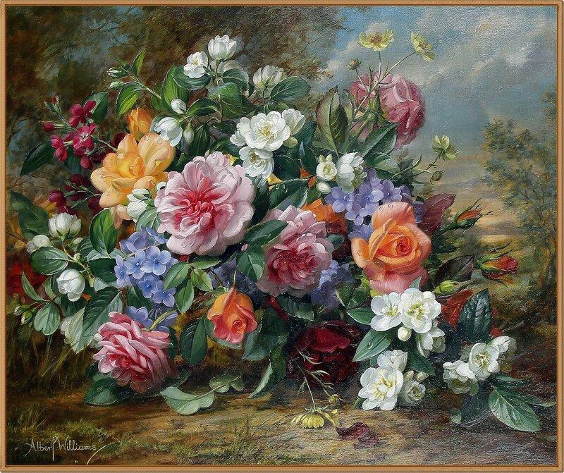18 Цветы в пейзаже (Floral study in a landscape)_51 х 61_х.,м._Частное собрание.jpg