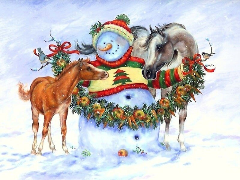Картинки новый год лошадь