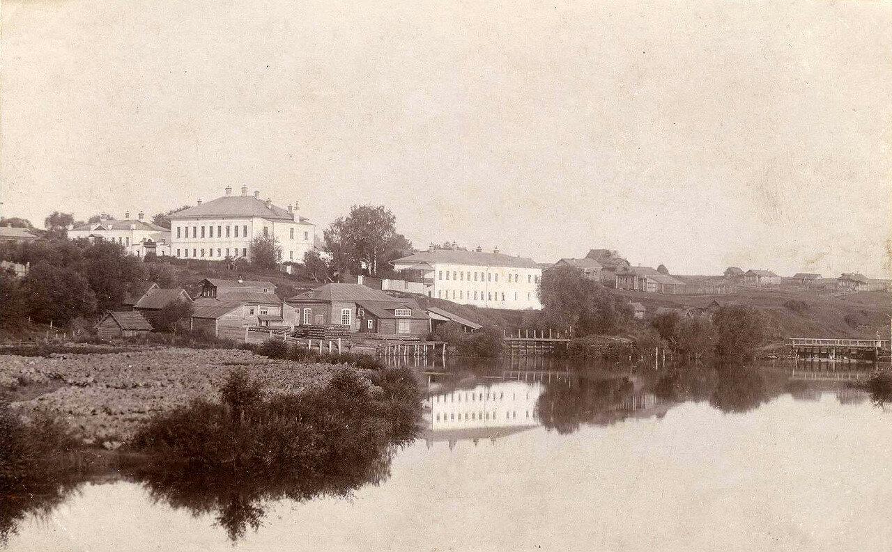 539522 Лежнево Село Лежнево Владимирской губ. Вид на водяную мельницу и земскую больницу  1911.jpg
