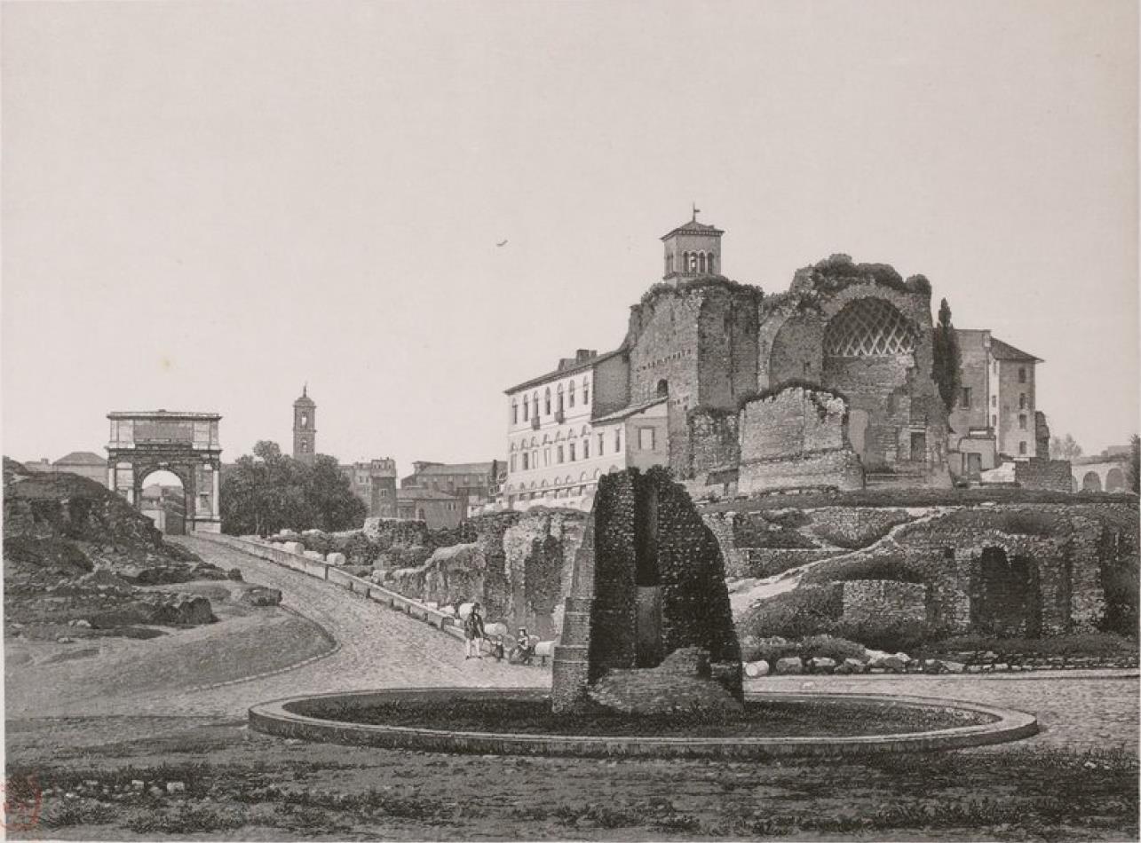 Италия. Рим. Конический фонтан Мета Суданте I в. н.э