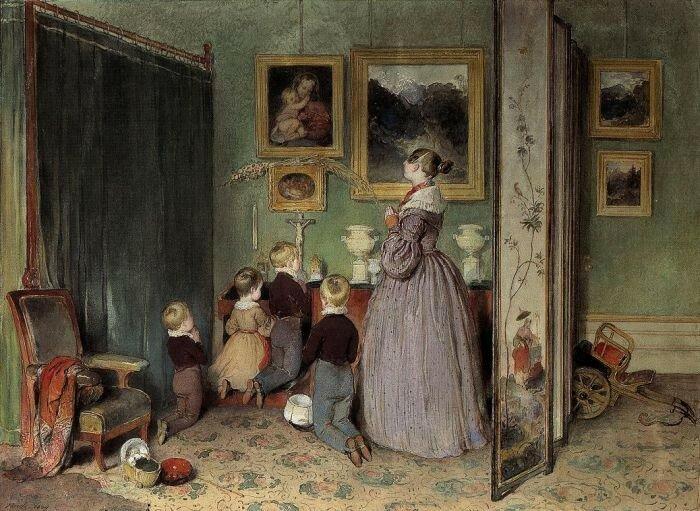 Das Abendgebet (Erzherzogin Sophie mit ihren Kindern), 1839.jpg