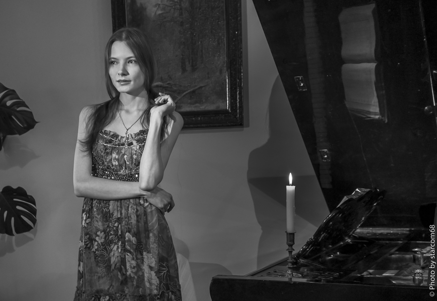 Татьяна Ксавьер в музее Славянова