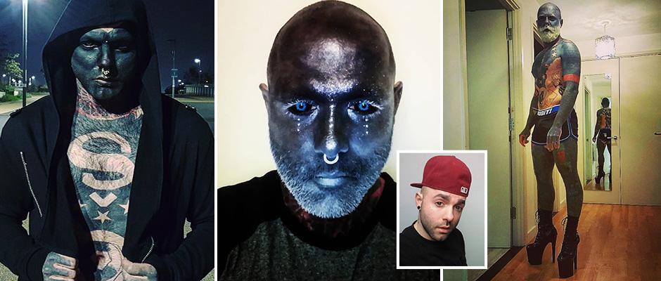 Его тело на 90% покрыто татуировками, но это еще не предел