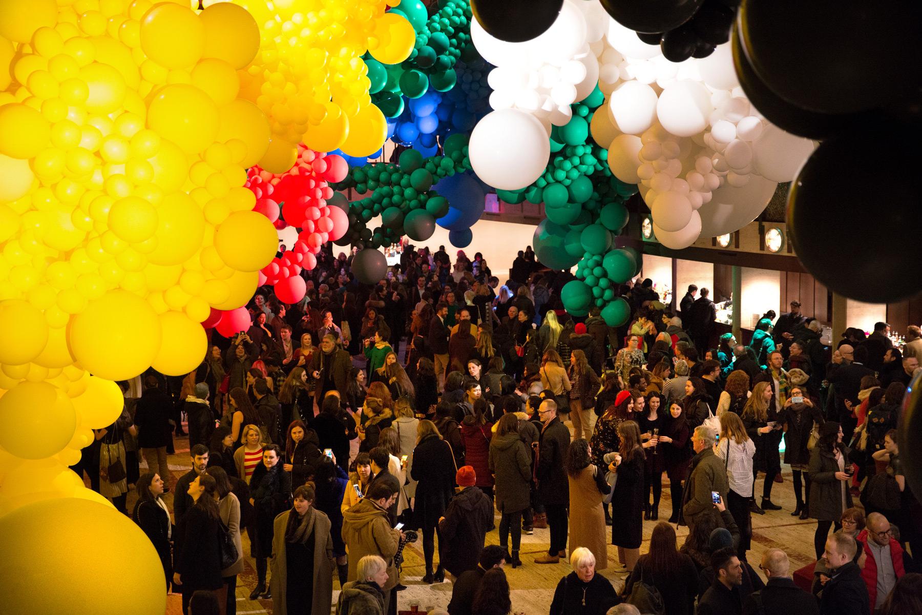 New York Installations Installation ballet city cities balloons