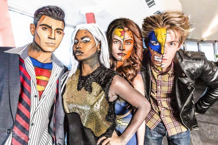 Superheroes and Body Painting – The Amazing makeup of Lianne Moseley