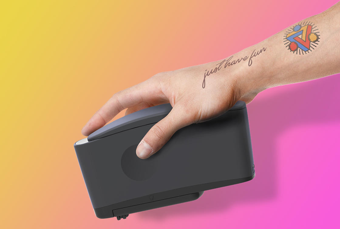 Prinker – Print your ephemeral tattoos directly on your skin! (12 pics)