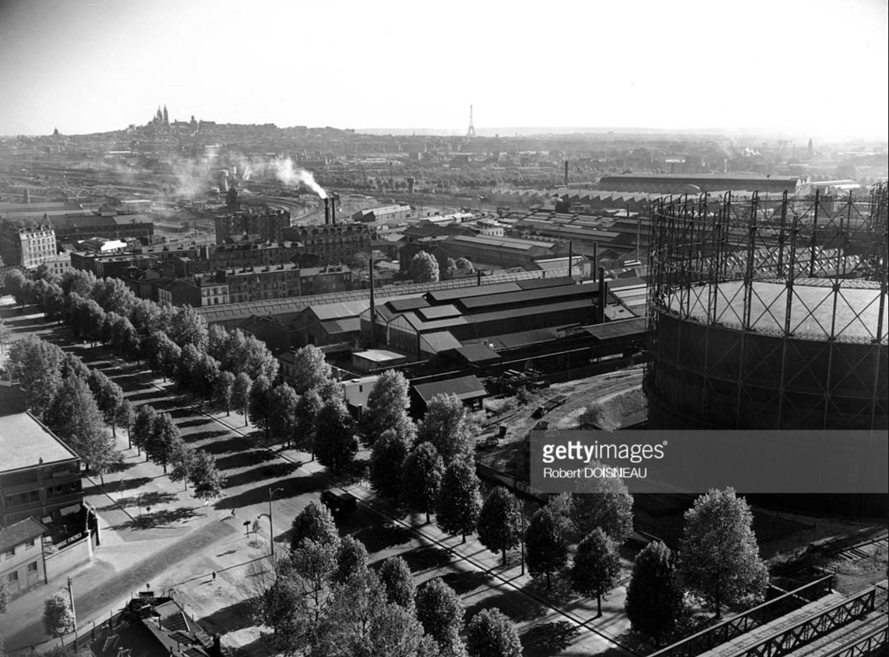 1949. Вид на проспект президента Рузвельта с газометра в Сен-Дени