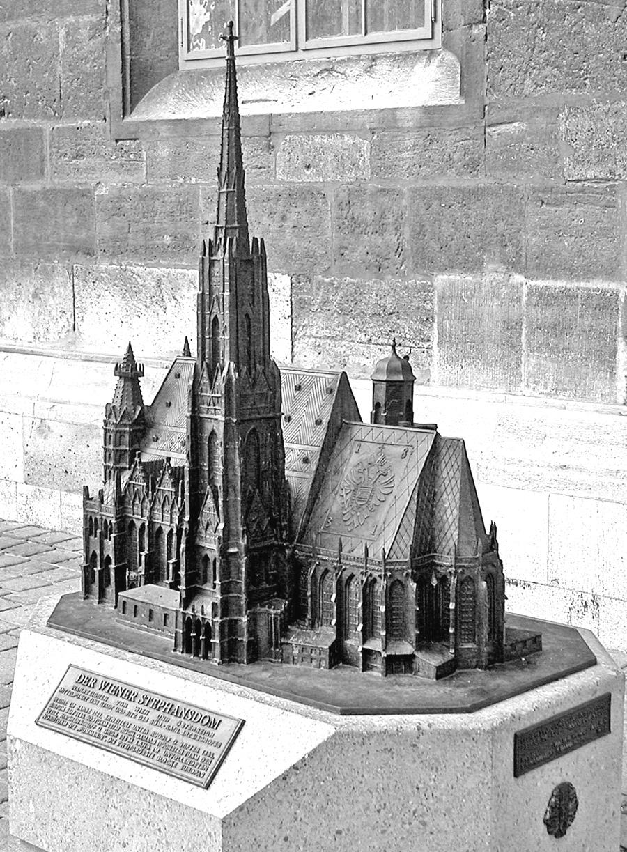 Собор Св.Стефана (Stephansdom) в Вене, вид сверху