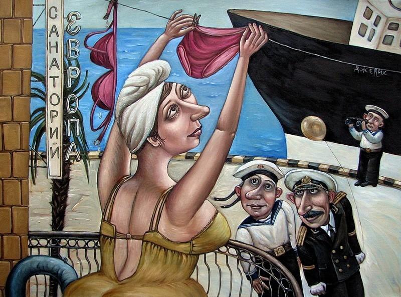 Путешествие в СССР: картины художницы Анжелы Джерих
