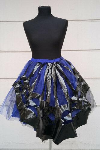 Женский карнавальный костюм Юбка черно-фиолетовая