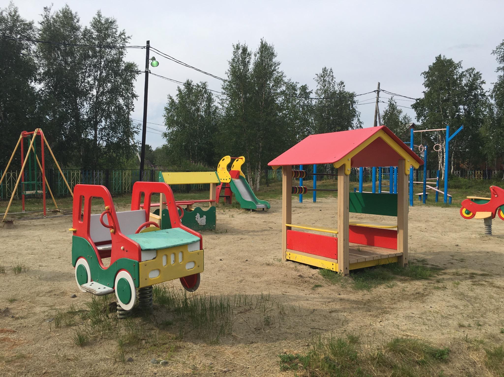 Площадка детского садика в поселении Горно-Князевск