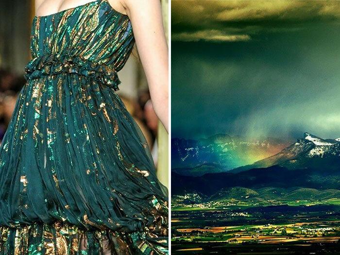 Художница Лилия Худякова сравнила наряды известных дизайнеров с красотой природы
