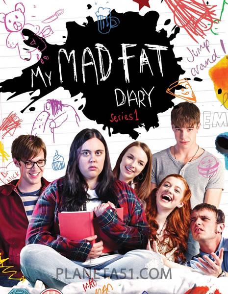 Мой безумный дневник (Дневник толстозадой) (1-3 сезон: 1-16 серии из 16) / My Mad Fat Diary / 2013-2015 / ЛМ / HDTVRip + HDTVRip (720p)