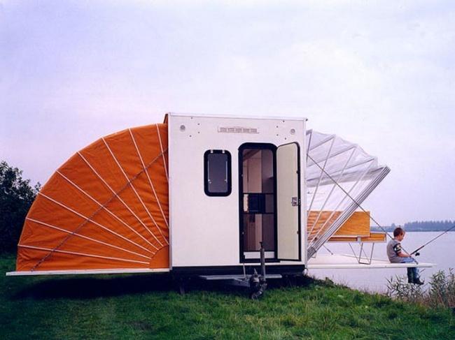 © inhabitat.com  «Маркис» был показан вНидерландах нафестивале Urban Campsite, посвященном к