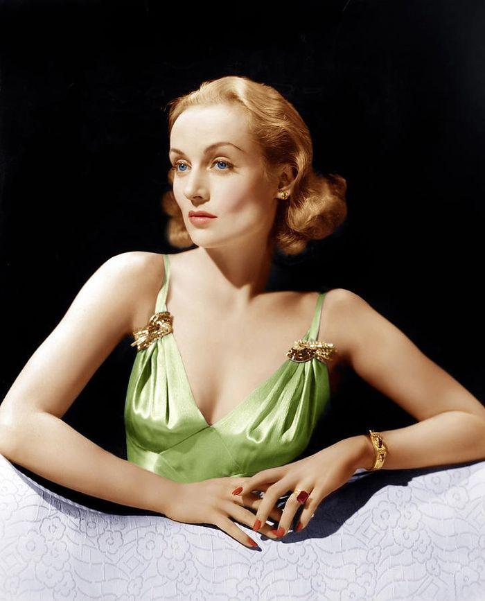 Актриса Кэрол Ломбард, 1940 год.