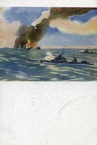 1944. Советские эсминцы топят вражеские корабли в Финском заливе