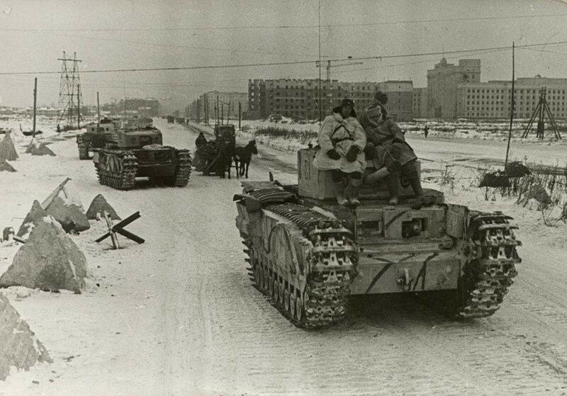Танки «Черчилль» в блокадном Ленинграде