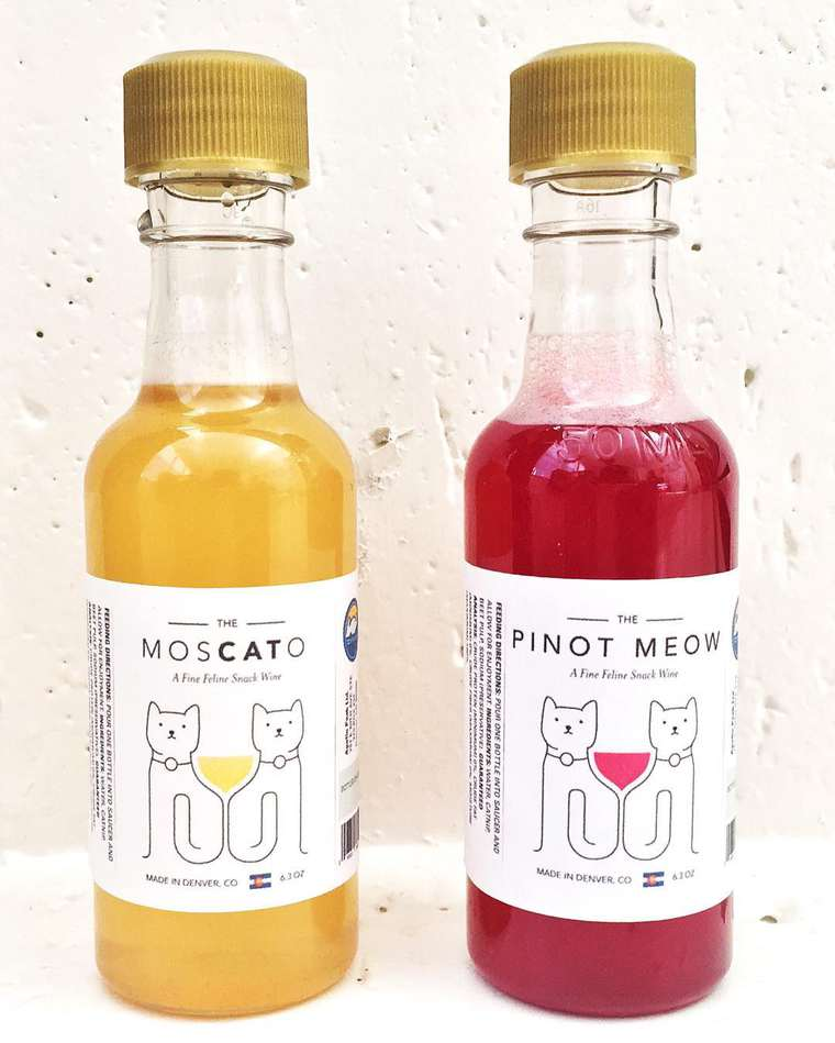 Pinot Meow - They just created wine for cats based on catnip!