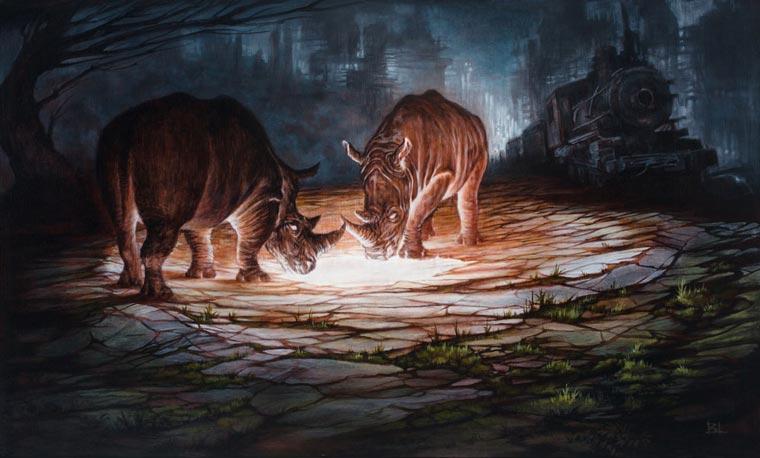Post-apocalyptic future and wild animals - The creations of Brin Levinson