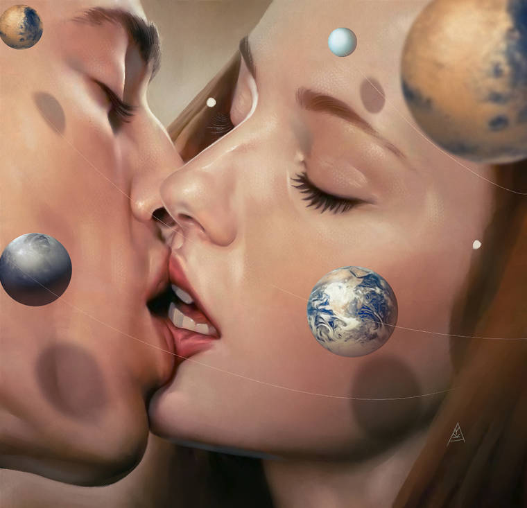 Cosmic Love - The poetic and haunting illustrations of Aykut Aydogdu