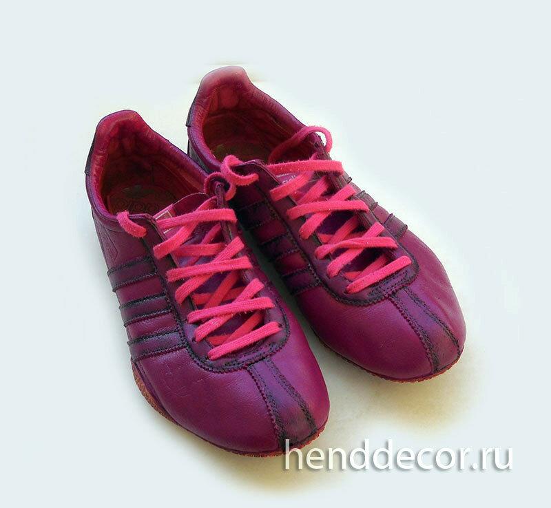 Красим кроссовки и проверяем результат