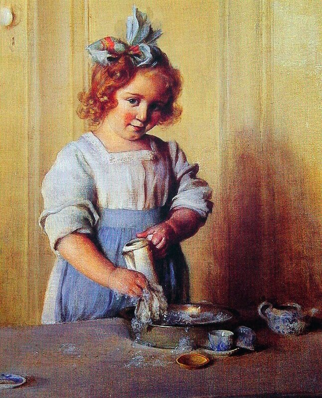 5 curran   washing_dishes-_emily_and_her_tea_set-large.jpg