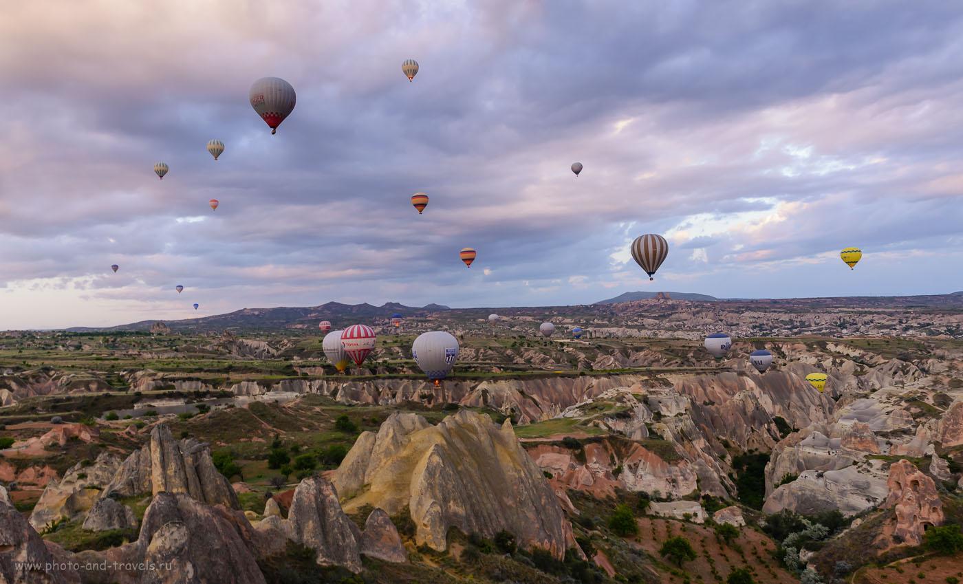 Фото 11. Рассвет над Каппадокией. Отзывы туристов о полете на воздушном шаре. Стоимость экскурсии. Отчет о поездке по Турции на автомобиле. 1/60, 8.0, 800, 24.