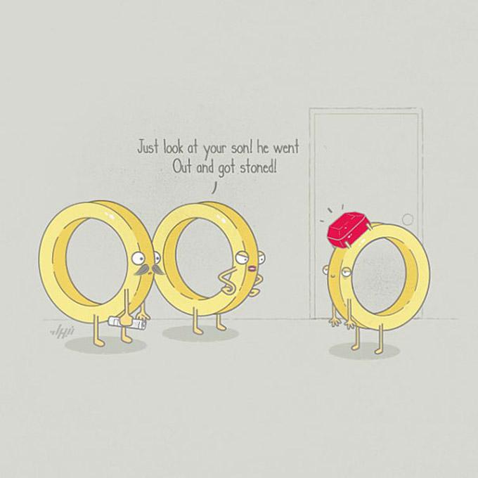 As divertidas ilustracoes de Nabhan Abdullatif