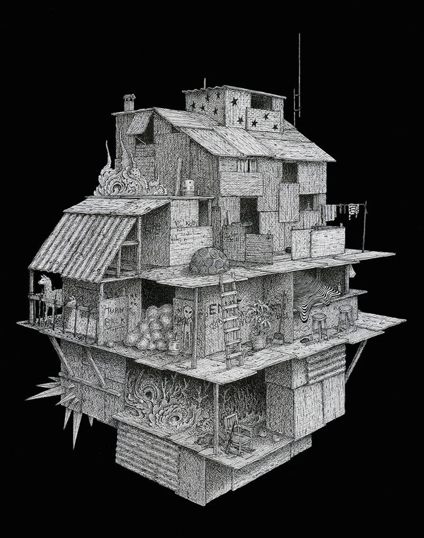 Surreal Ink Drawings by Ben Tolman