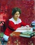 Портрет К.Б.Болеславовой. 1913. Русский художник Илья Ефимович Репин.jpg