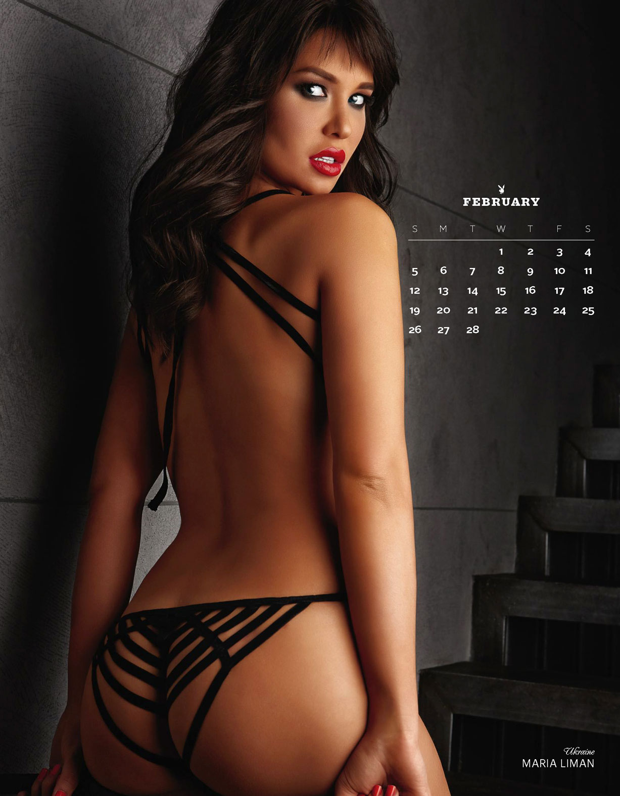 Украинка Мария Лиман в календаре Playboy USA 2017 Official Calendar - Playmates Around the World - Maria Liman | Ukraine