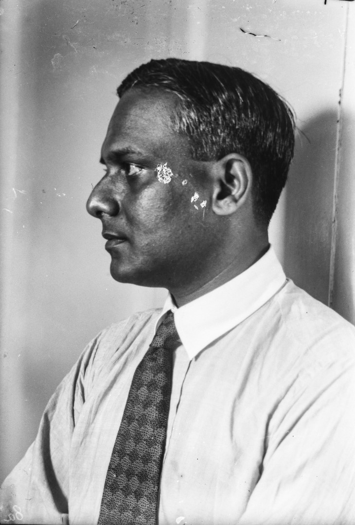 484. Антропометрический портрет Ратхиндранатха Тагора, сына поэта и лауреата Нобелевской премии Рабиндраната Тагора
