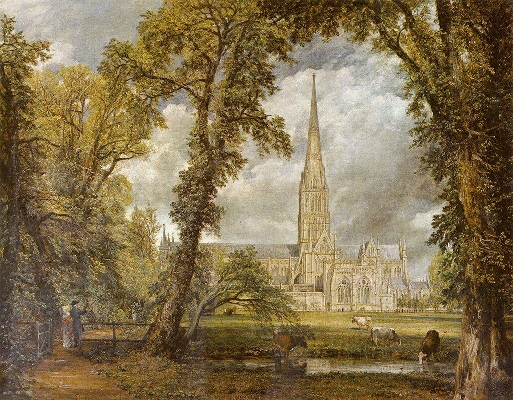 Констебл Джон-Вид на собор в Солсбери из епископского сада.jpg