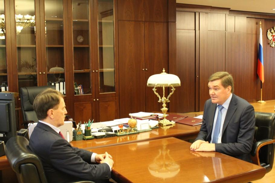 Алексей Гордеев встретился с главным федеральным инспектором по Калужской области