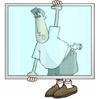 День работника стекольной промышленности. Стекольщик за стеклом