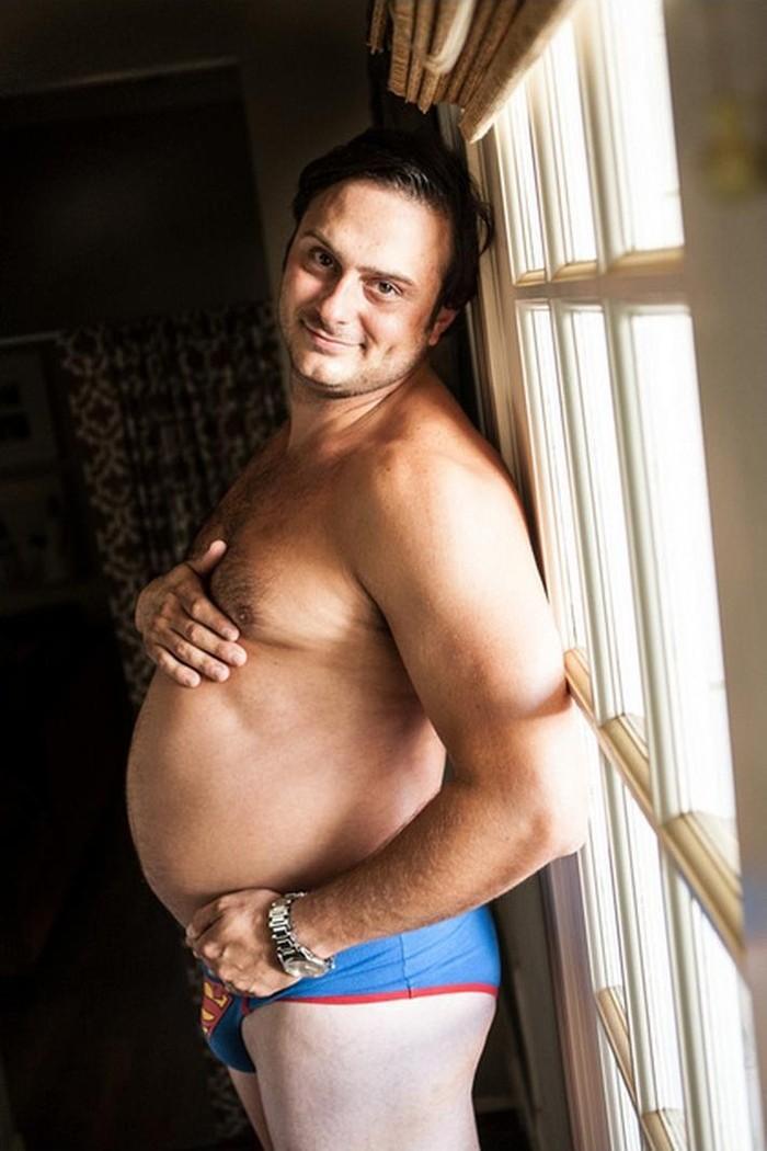 Жена не хотела фотографироваться беременной, поэтому я сделал это вместо нее (10 фото)