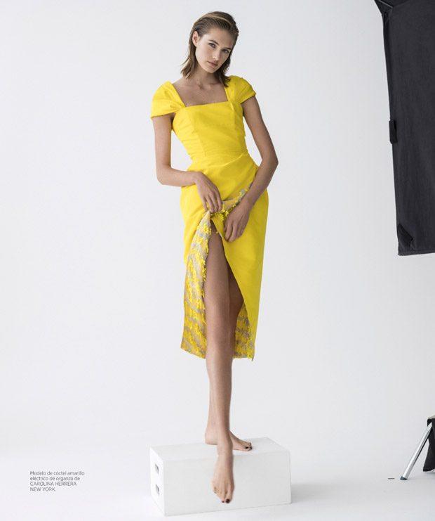 Sanne Vloet Models Carolina Herrera for Harper's Bazaar Spain
