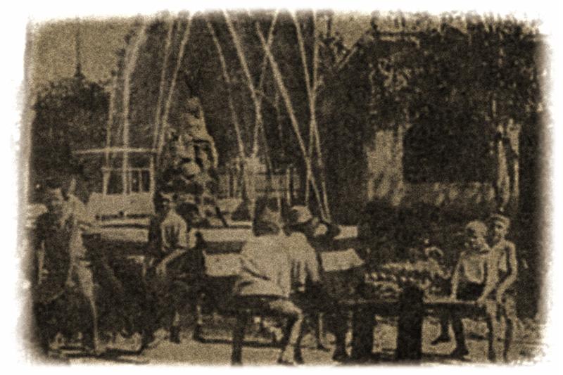 фонтан в саду ПРОФИНТЕРН (Пионеров)