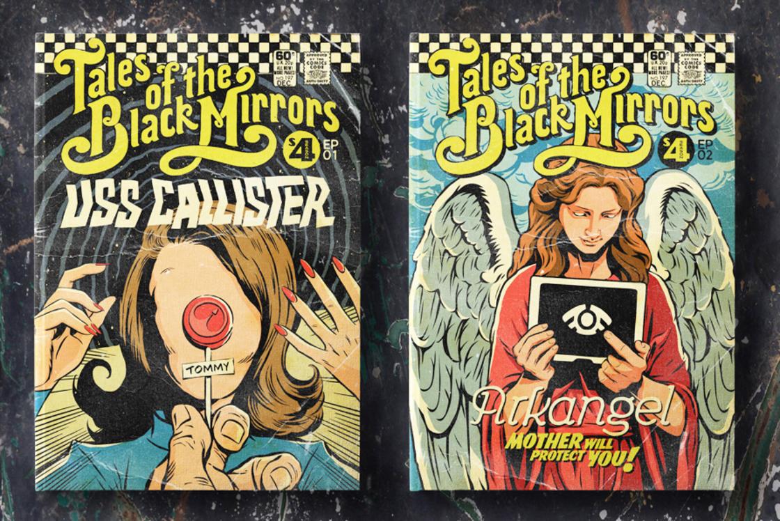 Black Mirror – Les episodes de la saison 4 transformes en comics vintage (8 pics)