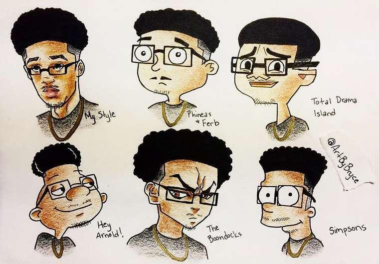 Quando ilustradores desenham a si mesmos como personagens famosos