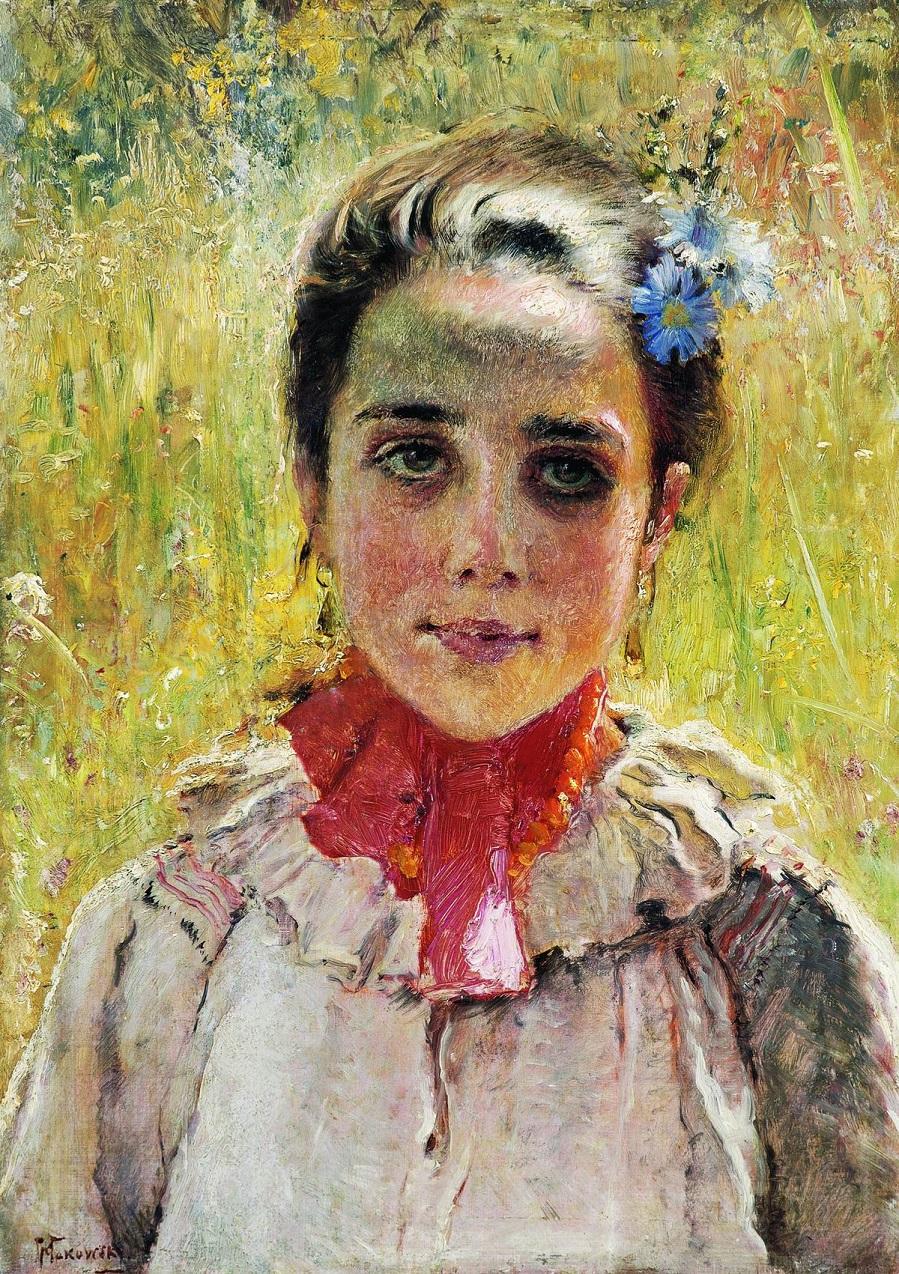 Девочка в поле. 1900-е.