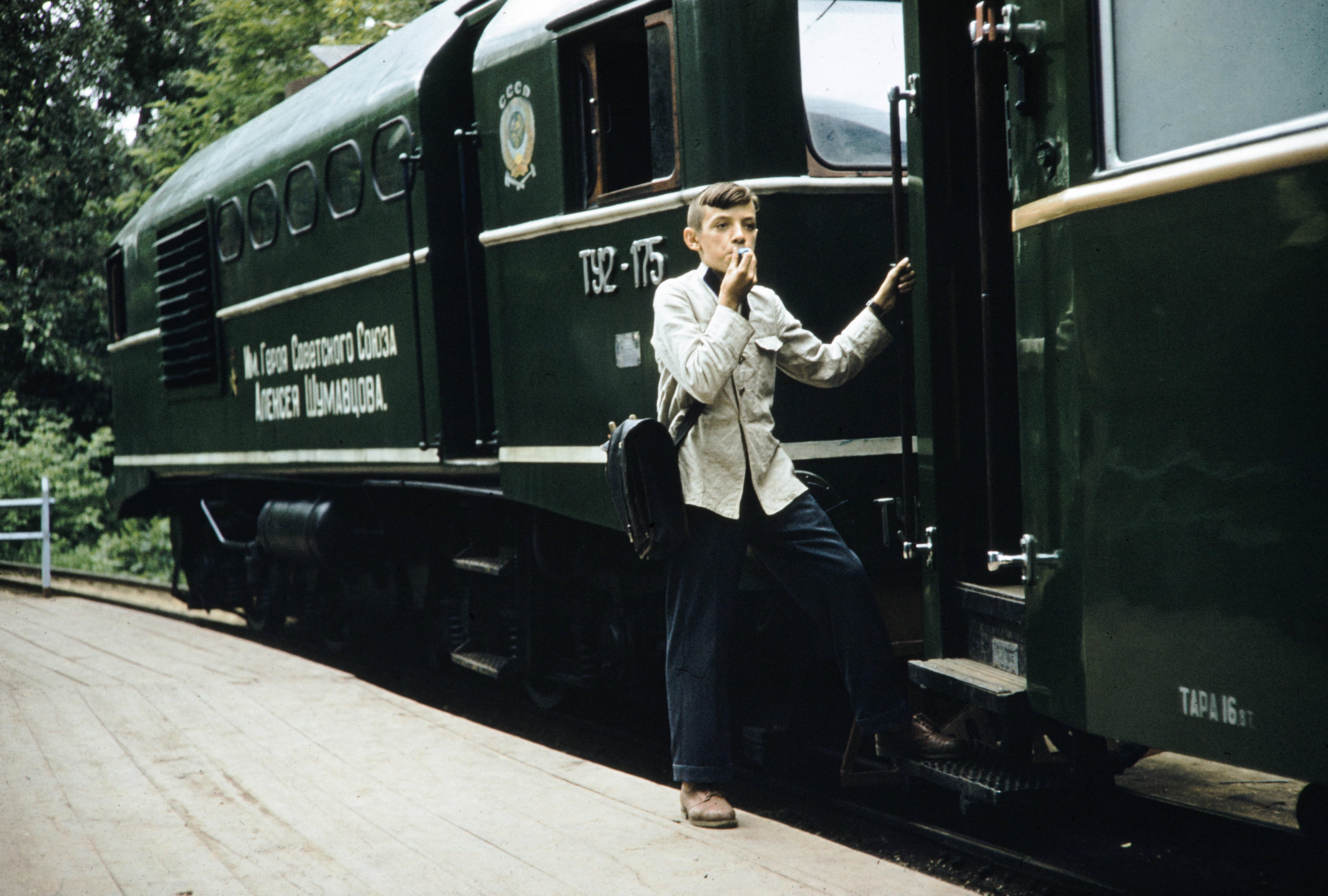 На детской железной дороге