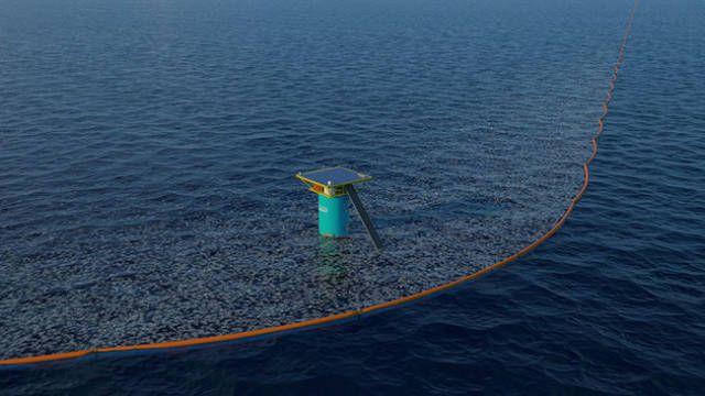 Плавучие барьеры для сбора мусора в океане