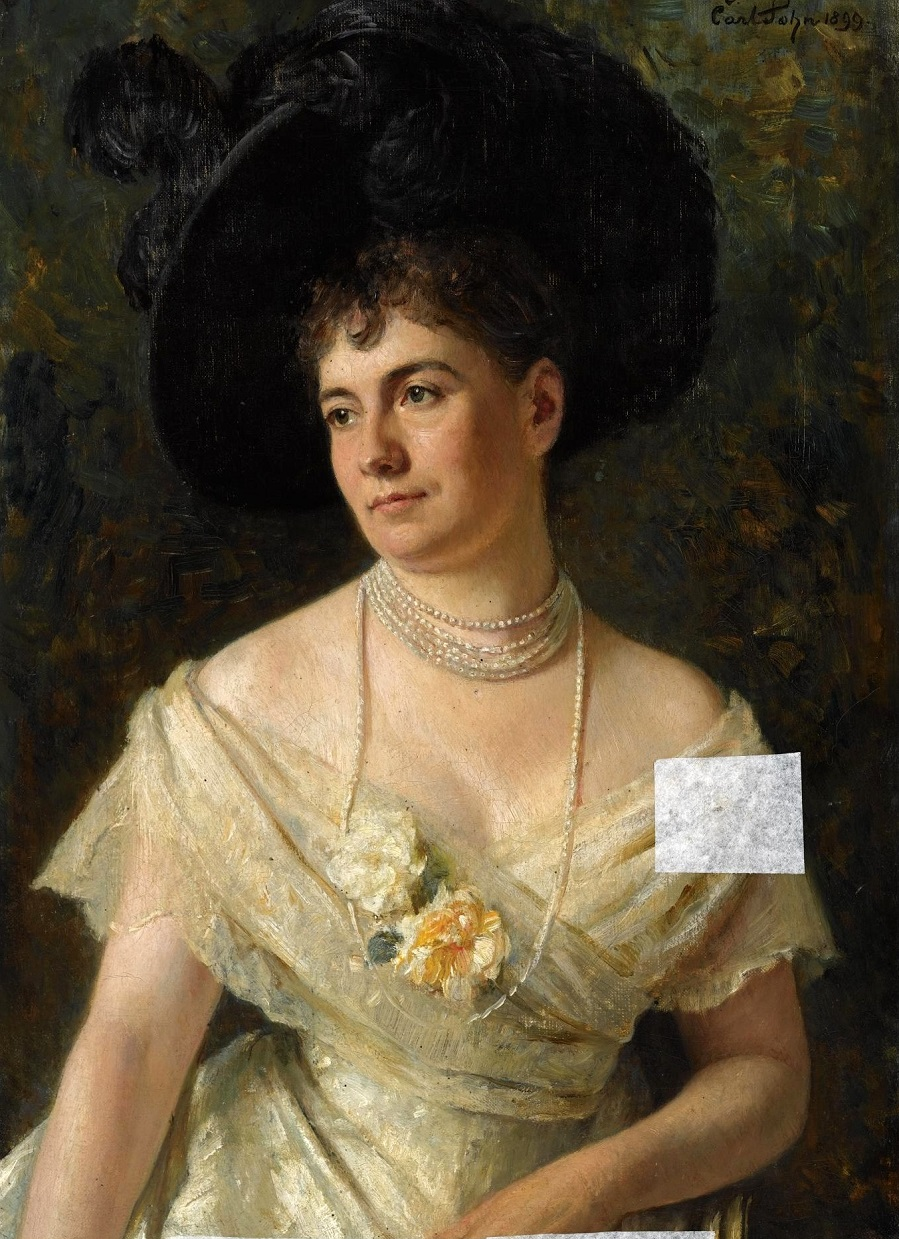 A portrait of Countess Marianne Dohna (1856-1931) , half-lenght