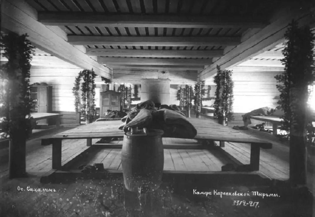 1890. Камера Корсаковской тюрьмы.