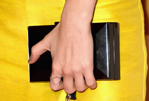 LOS ANGELES, CA - JANUARY 27: Actress Anna Kendrick (clutch detail) attends