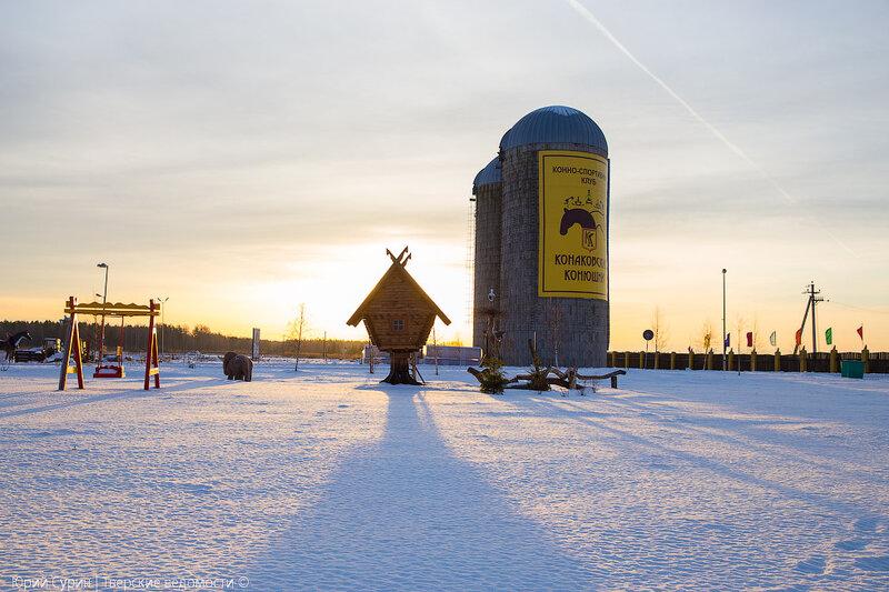 Силосные башни в Конаковском районе