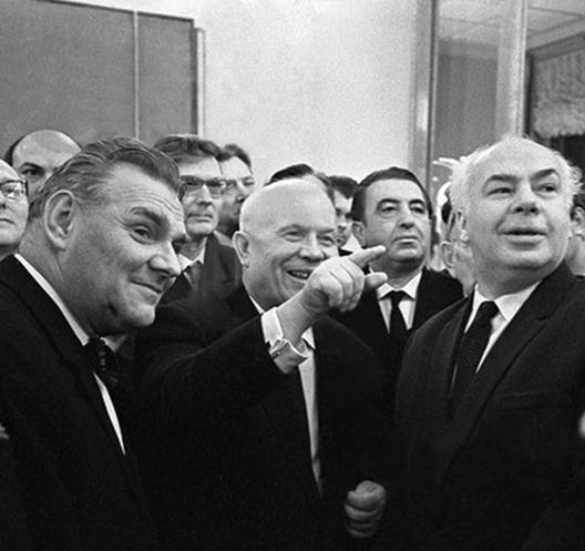 Посещение Хрущёвым выставки авангардистов