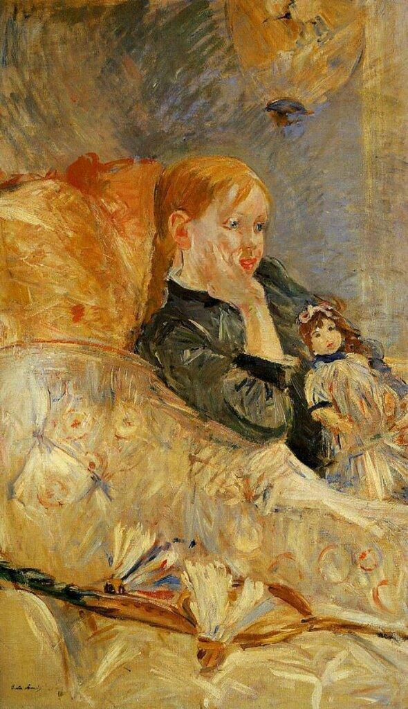 Берта Моризо: Маленькая девочка с куклой